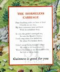 1956 GUINNESS INVENTIONS The Horseless Carriage ORIGINAL ADVERT Vintage Print SOLD